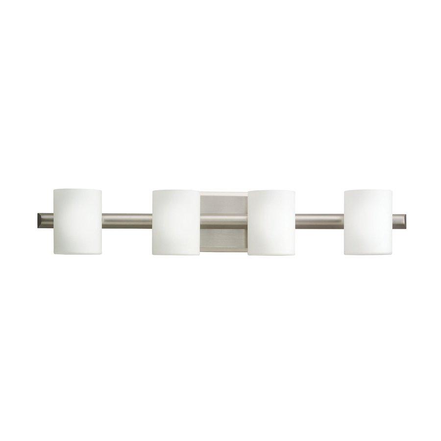 Kichler Lighting 4-Light Tubes Brushed Nickel Modern Vanity Light