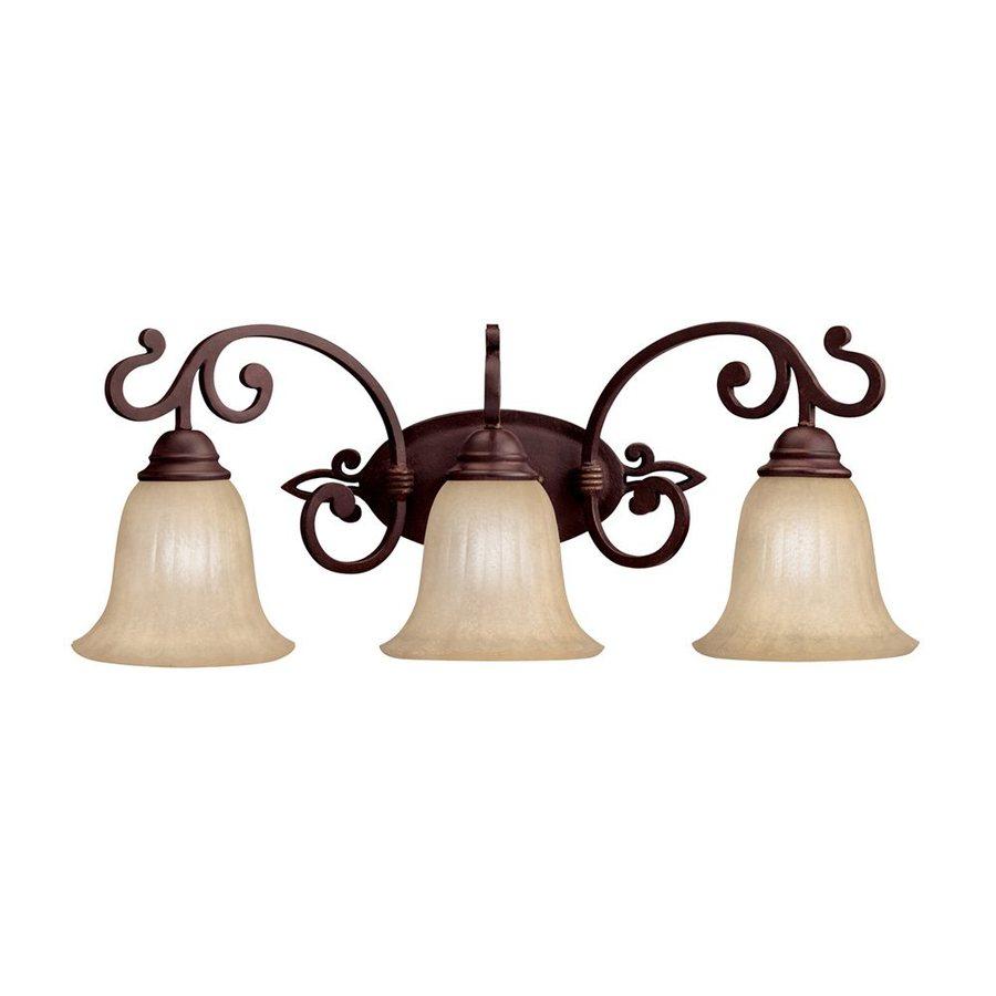 Kichler Lighting 3-Light Wilton Carre Bronze Traditional Vanity Light