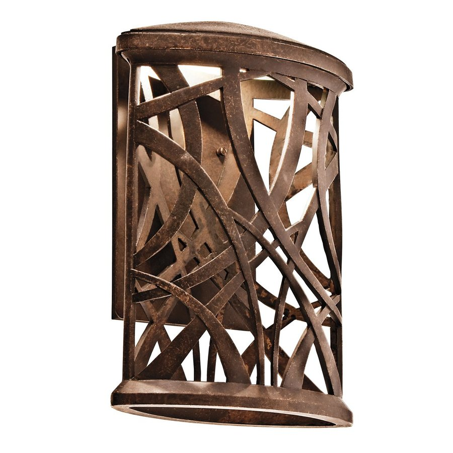 Kichler Lighting Maya Palm 10.75-in H LED Olde Bronze Dark Sky Outdoor Wall Light