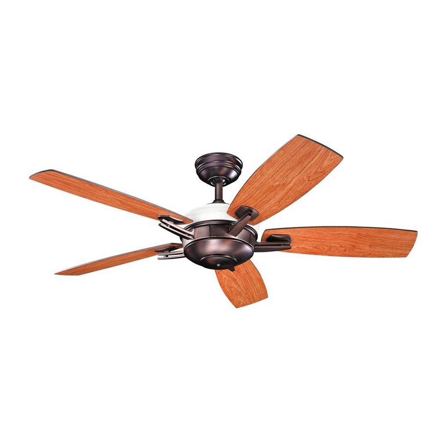 Kichler Lighting Brinbourne 54-in Oil Brushed Bronze Downrod Mount Indoor Ceiling Fan with Remote (5-Blade)