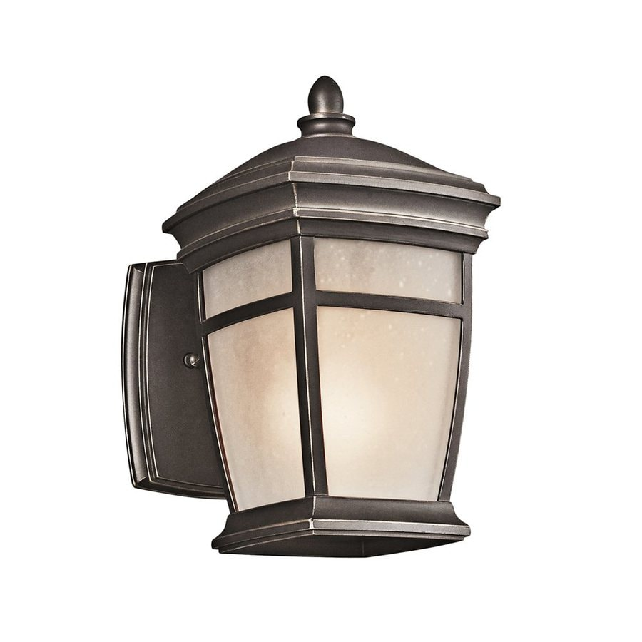 Shop Kichler Lighting Mcadams 9 5 In H Rubbed Bronze Outdoor Wall Light At Lo