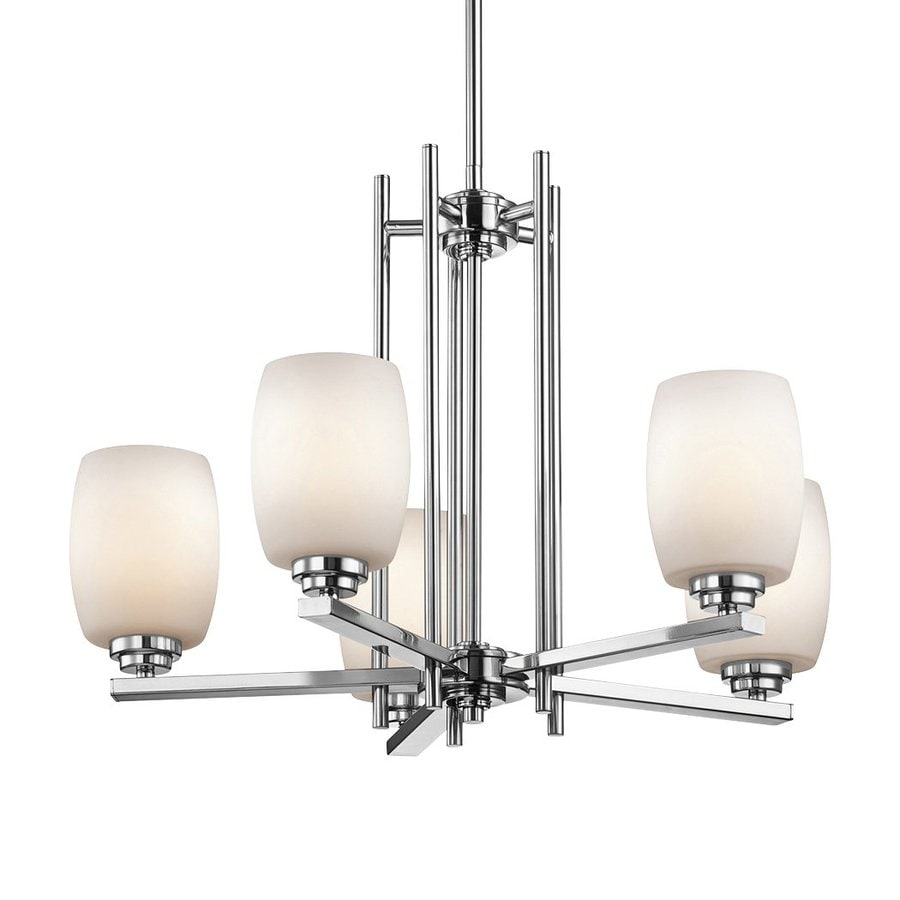 Kichler Lighting Eileen 24-in 5-Light Chrome Etched Glass Shaded Chandelier