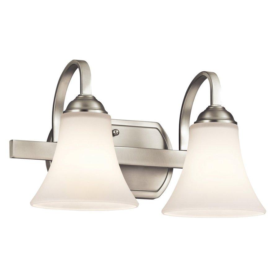 Shop Kichler Lighting 2 Light Keiran Brushed Nickel Transitional Vanity Light At