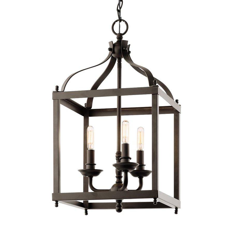 Kichler Lighting Larkin 12-in Olde Bronze Vintage Hardwired Single Cage Pendant