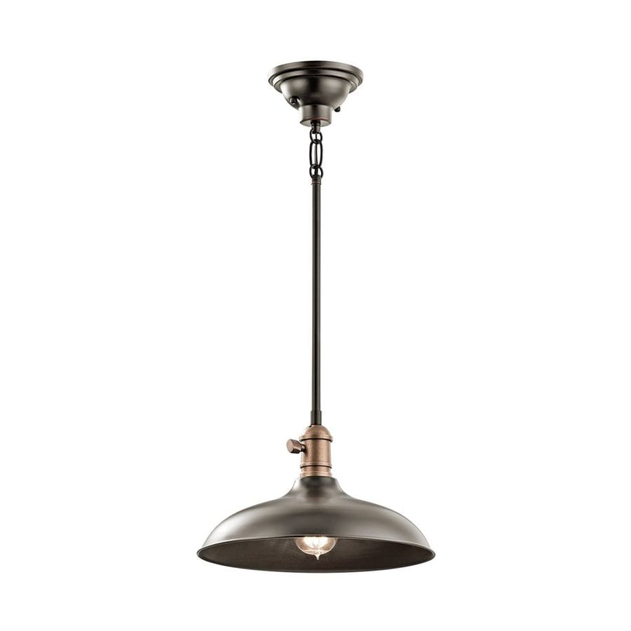 Kichler Lighting Cobson 12-in Olde Bronze Industrial Hardwired Single Warehouse Pendant