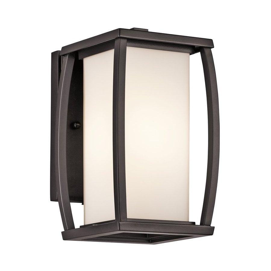 Kichler Lighting Bowen 9.5-in H Architectural Bronze Outdoor Wall Light