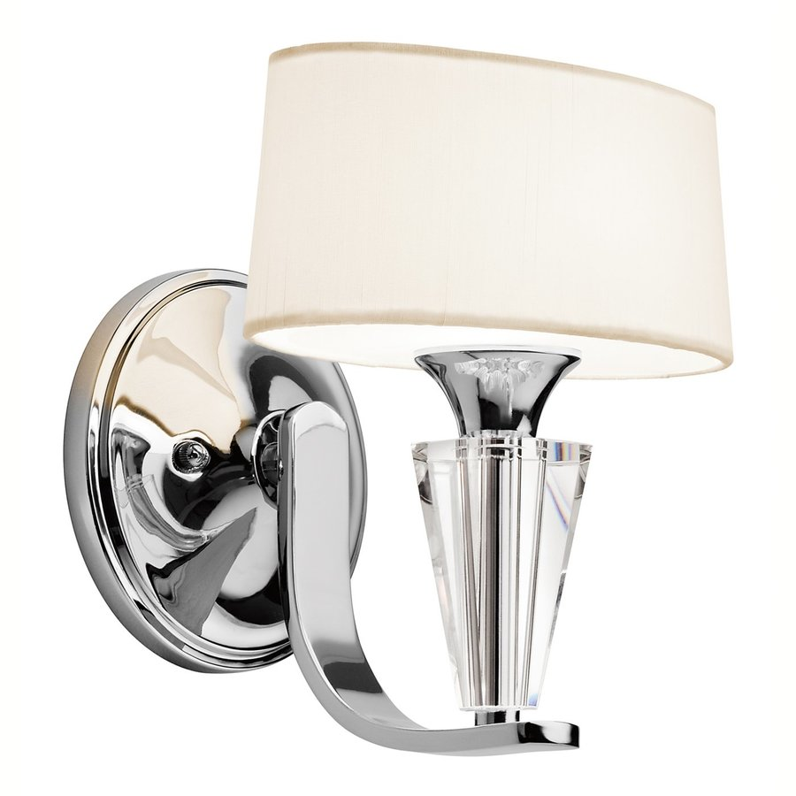 Kichler Lighting Crystal Persuasion 8.5-in W 1-Light Chrome Arm Wall Sconce