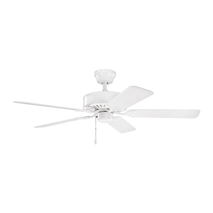 Kichler Lighting Renew Es 50-in White Downrod or Close Mount Indoor Ceiling Fan (5-Blade) ENERGY STAR