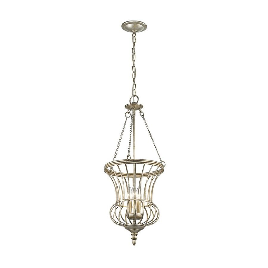 Kichler Lighting Calla 14-in Sterling Gold Country Cottage Hardwired Single Urn Pendant