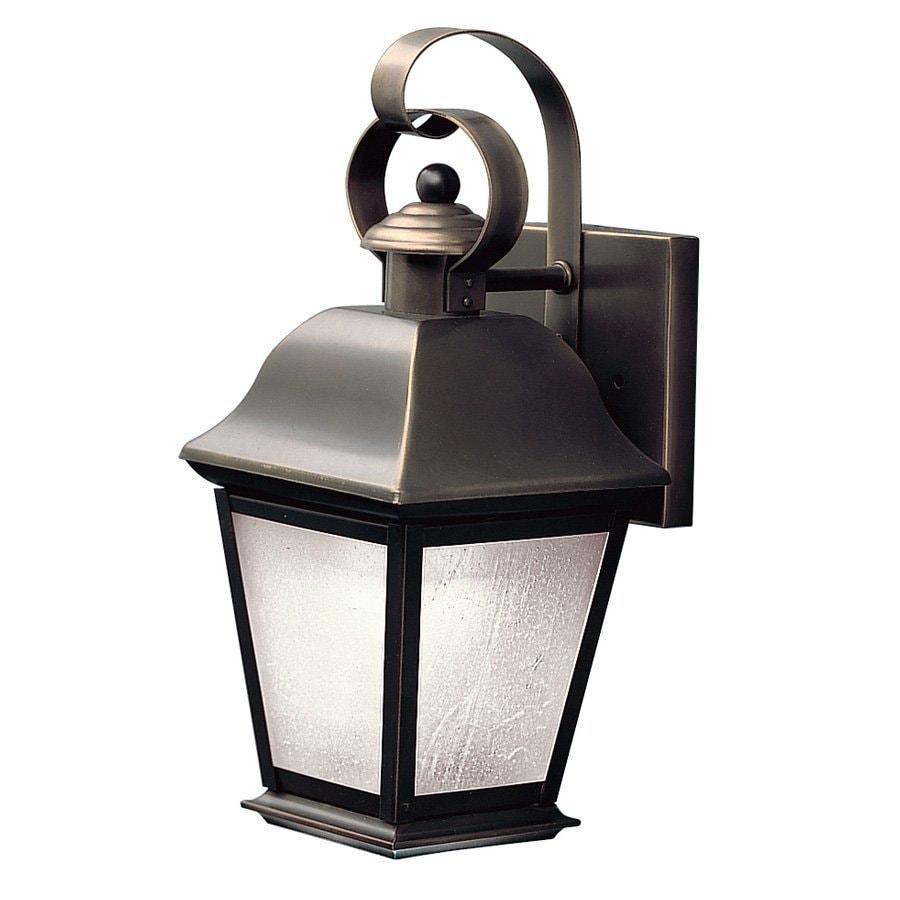 Kichler Lighting Mount Vernon 12.5-in H Olde Bronze Fluorescent Outdoor Wall Light