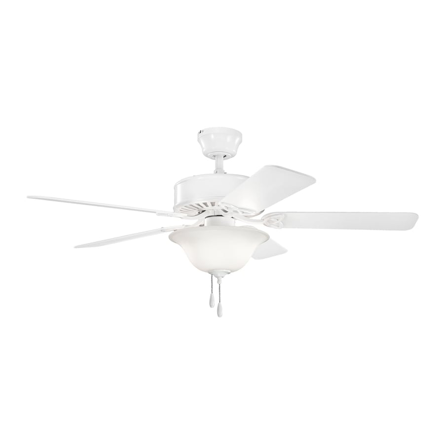 Kichler Lighting Renew Select Es 50-in White Downrod or Close Mount Indoor Ceiling Fan with Light Kit (5-Blade) ENERGY STAR