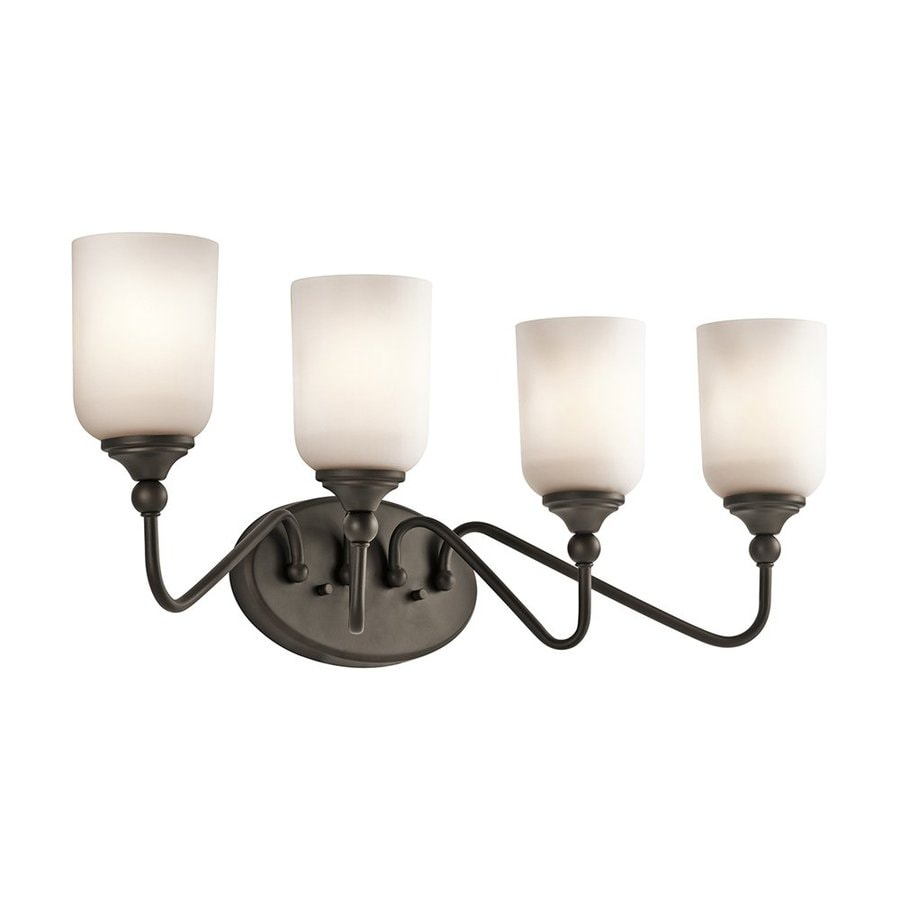 Kichler Vanity Lights Lowes : Shop Kichler Lighting 4-Light Lilah Olde Bronze Traditional Vanity Light at Lowes.com