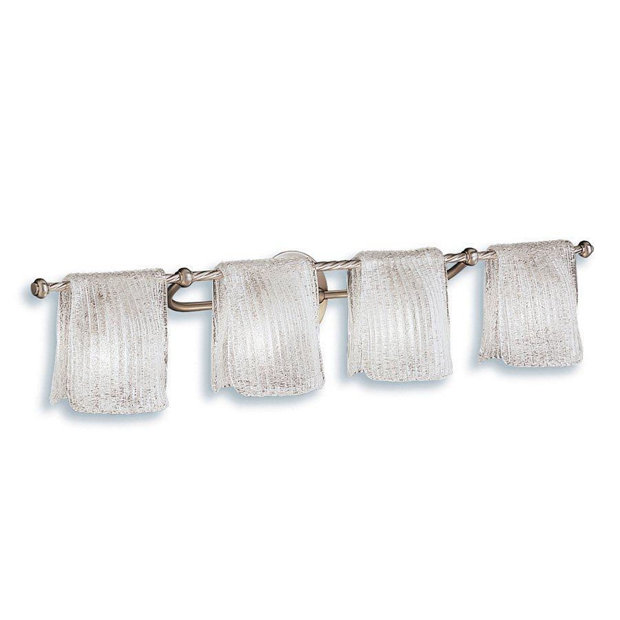 Kichler Lighting 4-Light Drapes Brushed Nickel Transitional Vanity Light