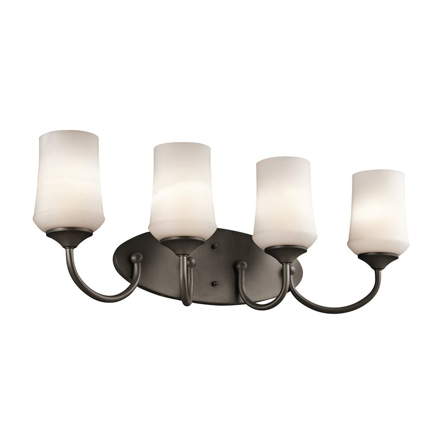 Kichler Lighting 4-Light Aubrey Olde Bronze Transitional Vanity Light