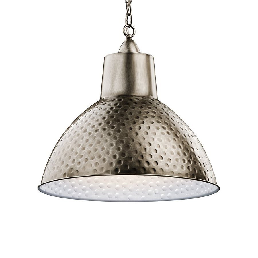 Kichler Lighting Missoula 18.5-in Antique Pewter Rustic Hardwired Single Dome Pendant