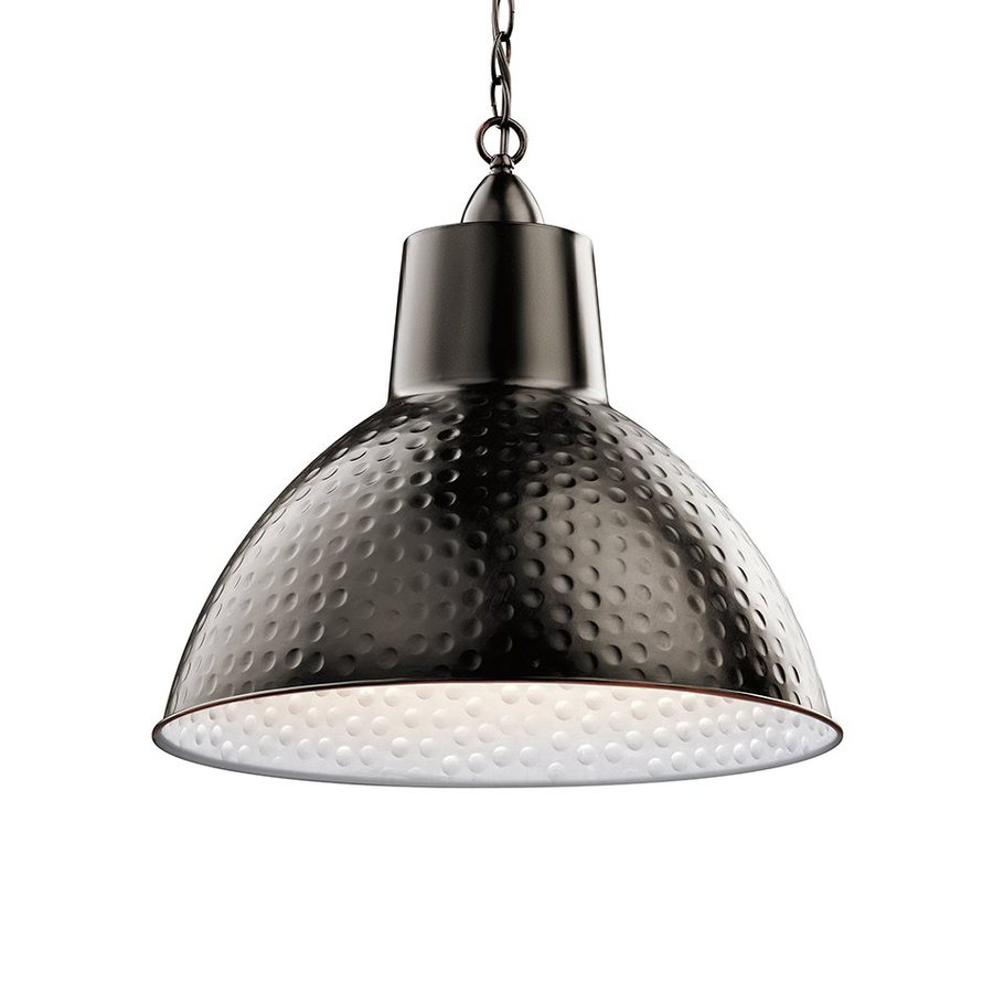 Kichler Lighting Missoula 18.5-in Bronze Rustic Hardwired Single Dome Pendant