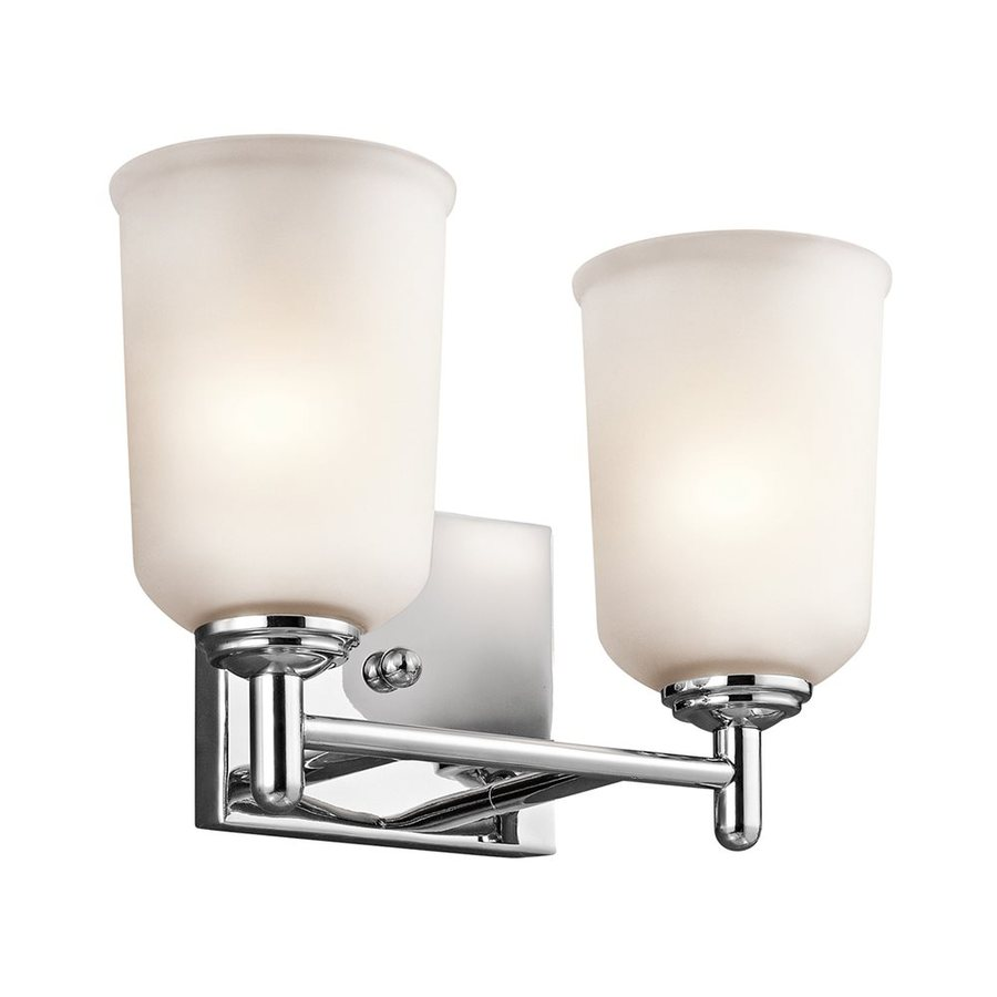 Shop Kichler Lighting 2 Light Shailene Chrome Bathroom Vanity Light At