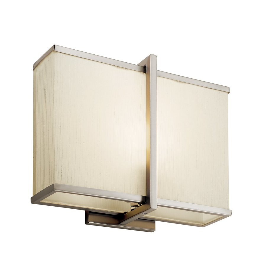 Kichler Lighting Rigel 12-in W 1-Light Satin Nickel Pocket Wall Sconce