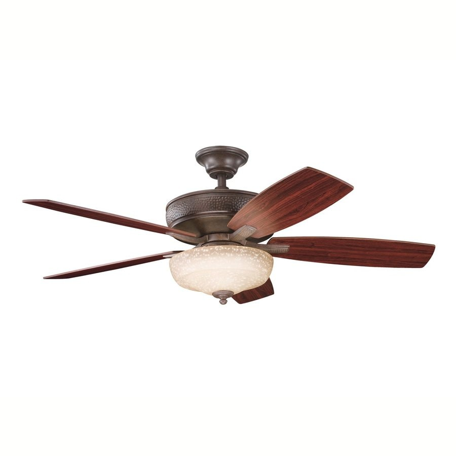 Kichler Lighting Monarch II Select 52-in Tannery Bronze Downrod or Close Mount Indoor Ceiling Fan with Light Kit and Remote (5-Blade)