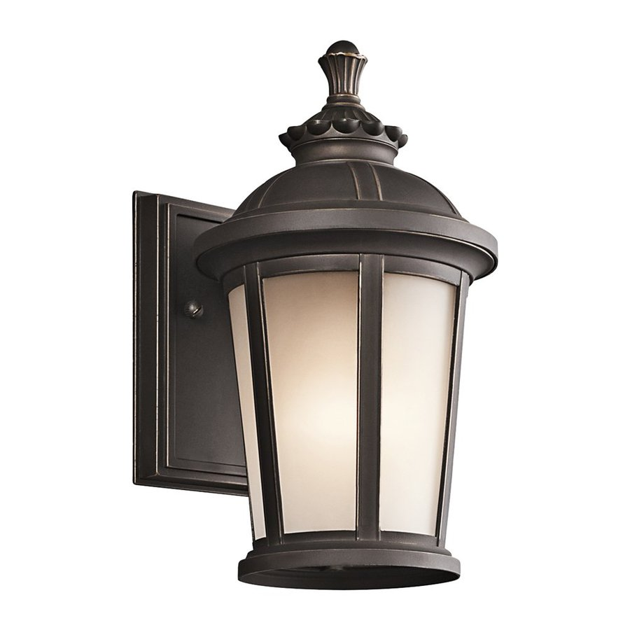 Kichler Lighting Ralston 10.5-in H Rubbed Bronze Outdoor Wall Light
