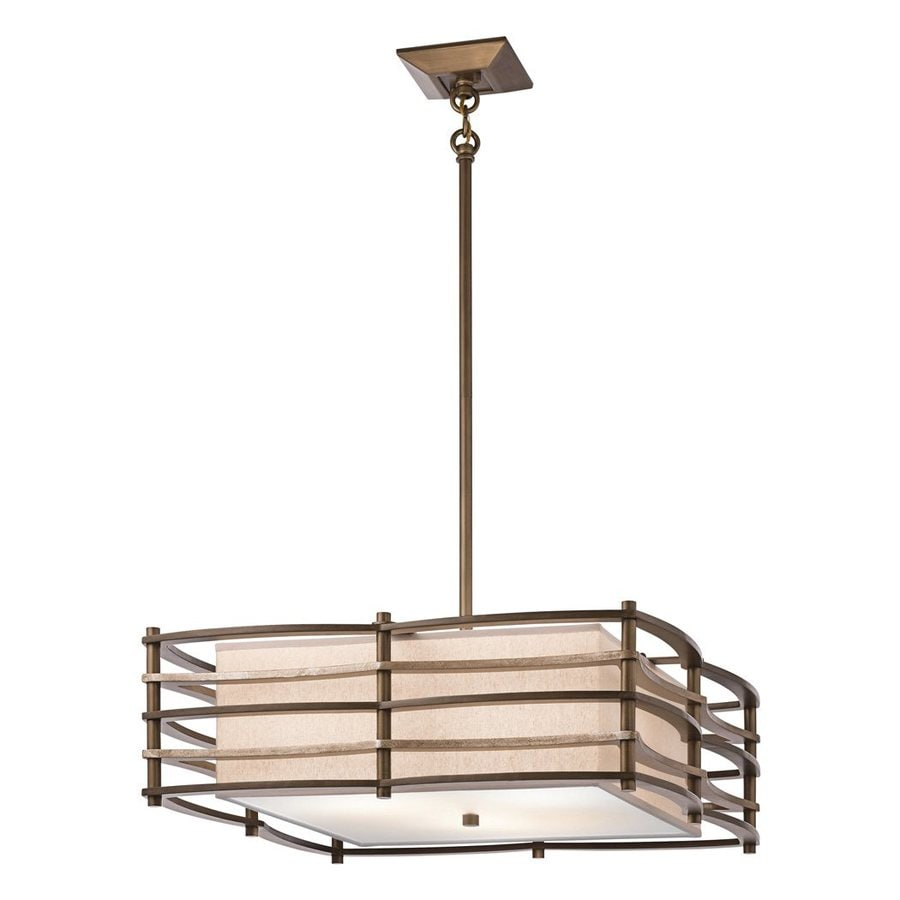 Kichler Lighting Moxie 24-in Cambridge Bronze Craftsman Hardwired Single Square Pendant