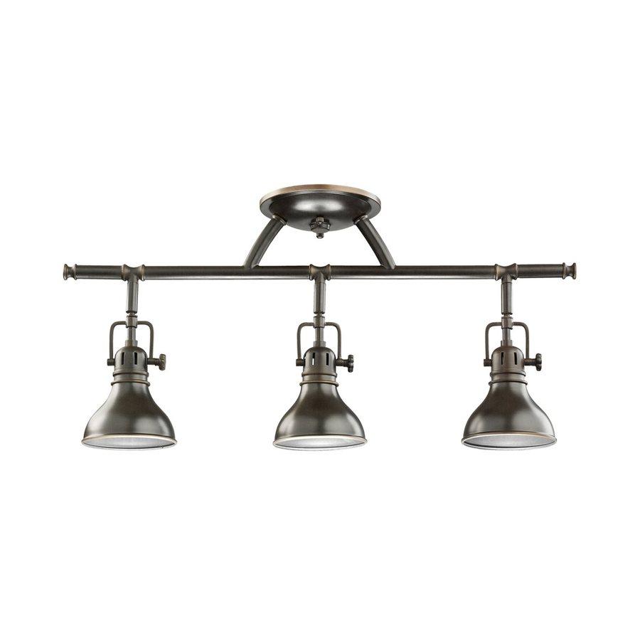 Kichler Lighting Hatteras Bay 3-Light 22.75-in Olde Bronze Fixed Track Light Kit