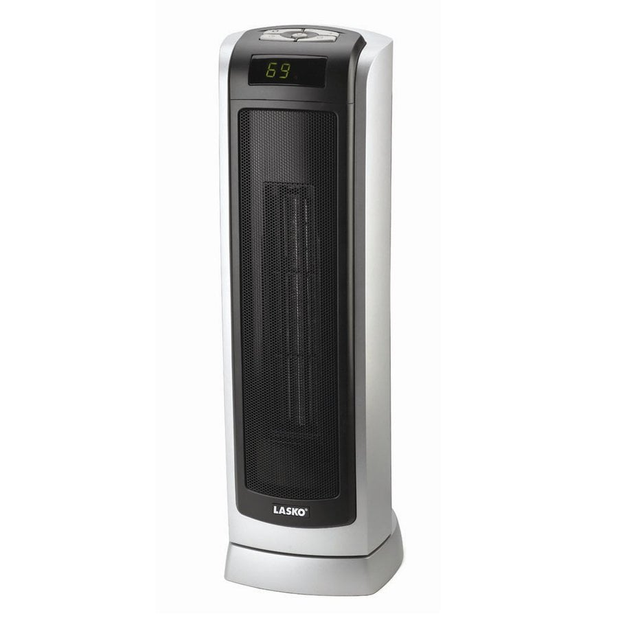 Shop Lasko Gray Ceramic Tower Electric Space Heater with