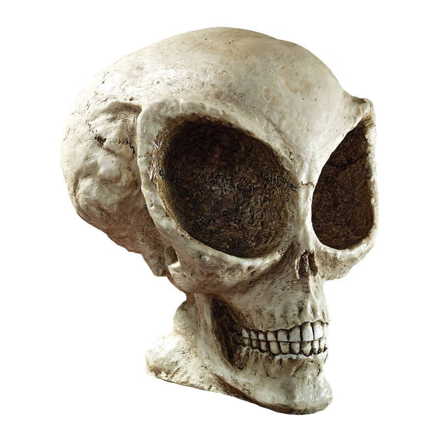 Design Toscano Extra-Terrestrial Skull Tabletop Sculpture