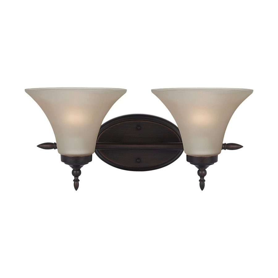 Sea Gull Lighting 2-Light Montreal Burnt Sienna Bathroom Vanity Light