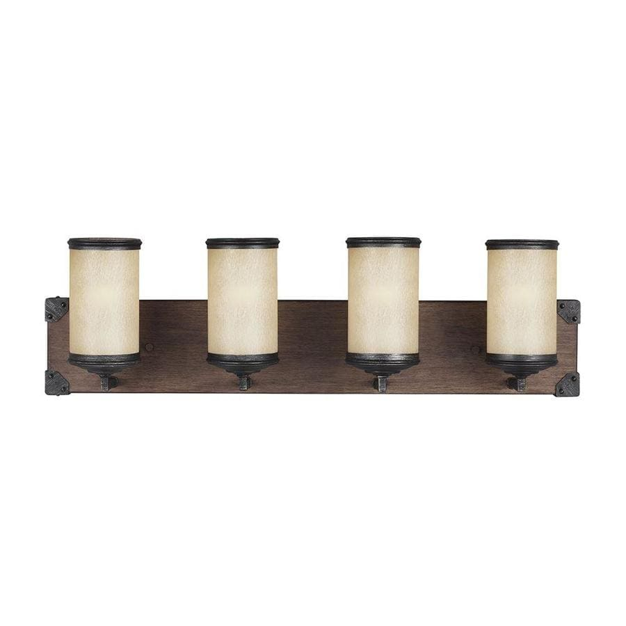 Shop Sea Gull Lighting Dunning Four Light Stardust Cylinder Vanity Light At Lowes Com