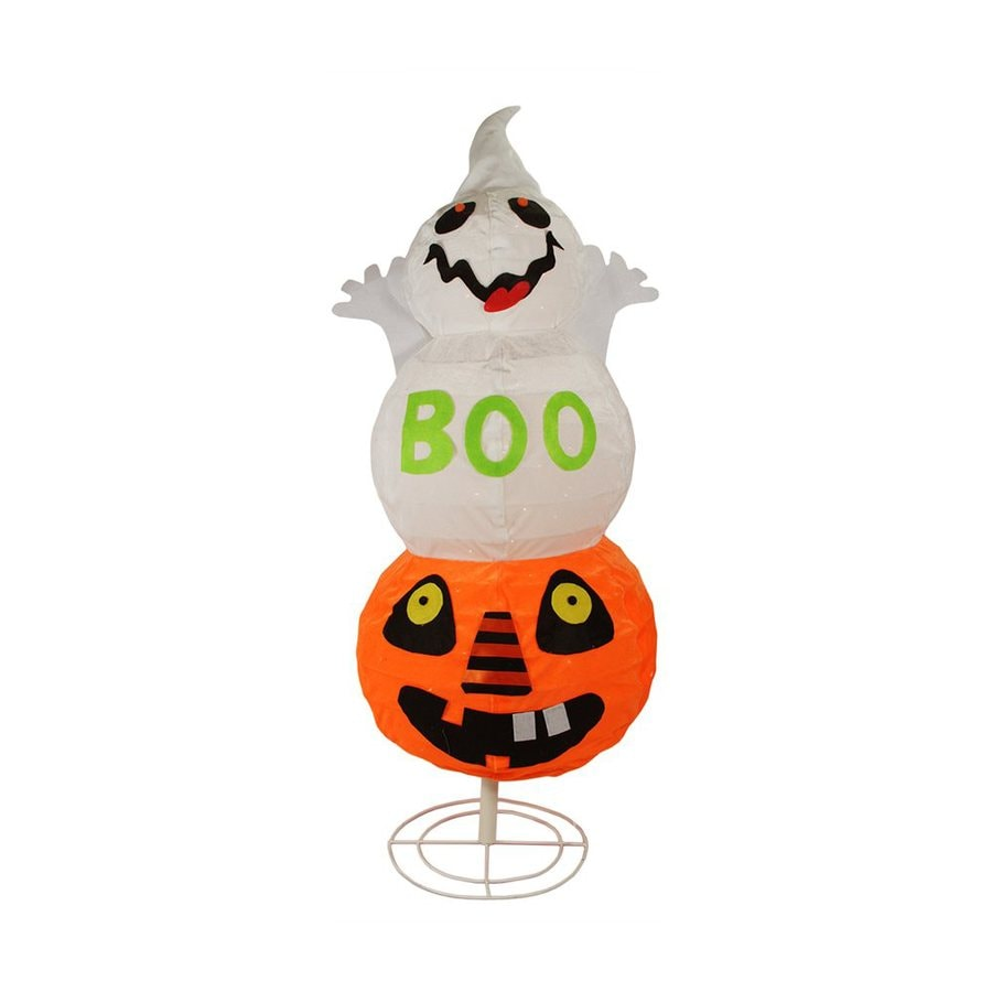 Northlight Spooky Ghost Pre-Lit Boo Fabric Freestanding Greeter with White Incandescent Lights