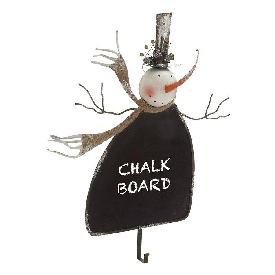 Woodland Imports Snowman Chalkboard Decorative Metal Multipurpose Hook