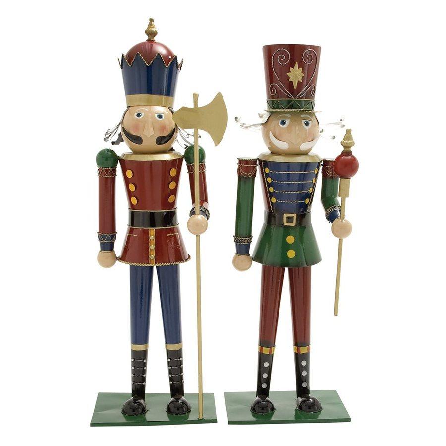Woodland Imports Set of 2 Metal Tabletop Nutcracker Figurines