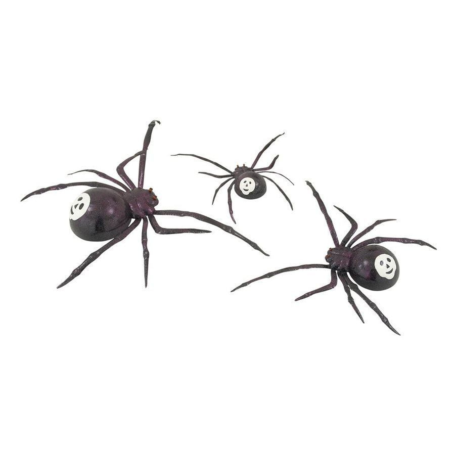 Woodland Imports Set of 3 Metal Tabletop Spider Figurines