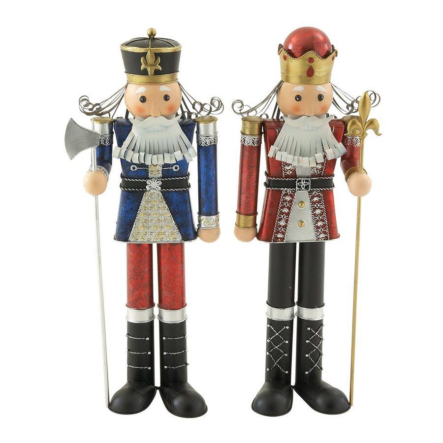 Woodland Imports Set of 2 Metal Freestanding Nutcracker Figurines