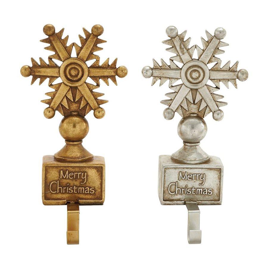 Woodland Imports 2-Pack Decorative Resin Composite Stocking Holder