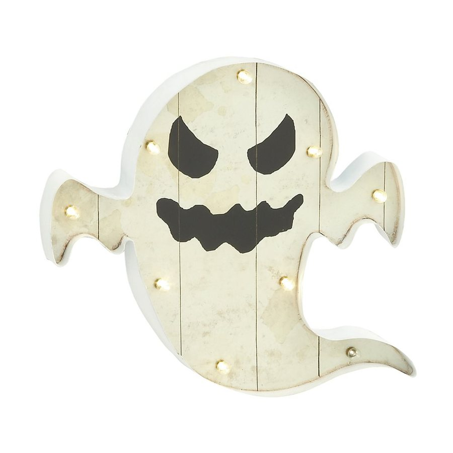 Woodland Imports Lighted Metal Wall-Mounted Ghost Novelty Light with White LED Lights