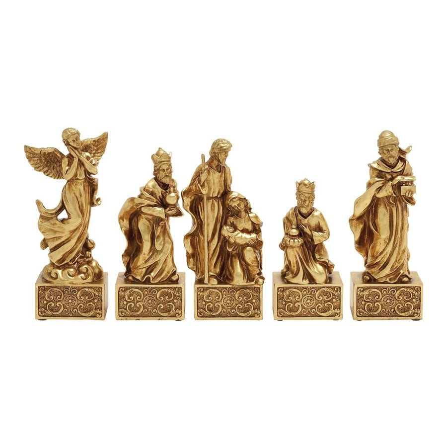 Woodland Imports Set of 5 Resin Tabletop Nativity Figurines