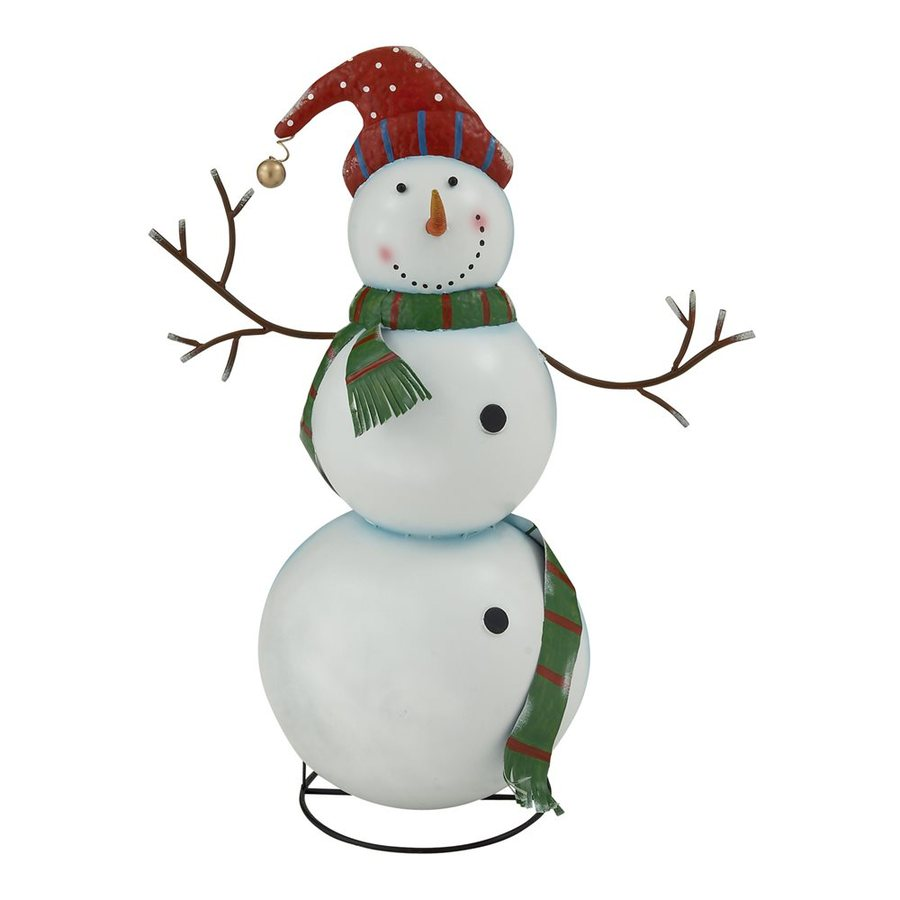 Woodland Imports Metal Tabletop Snowman Figurine