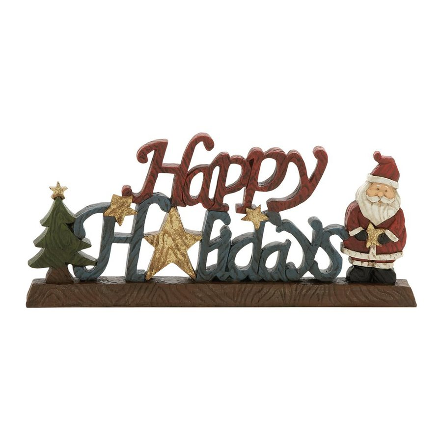Woodland Imports Happy Holidays Wood Tabletop Sign