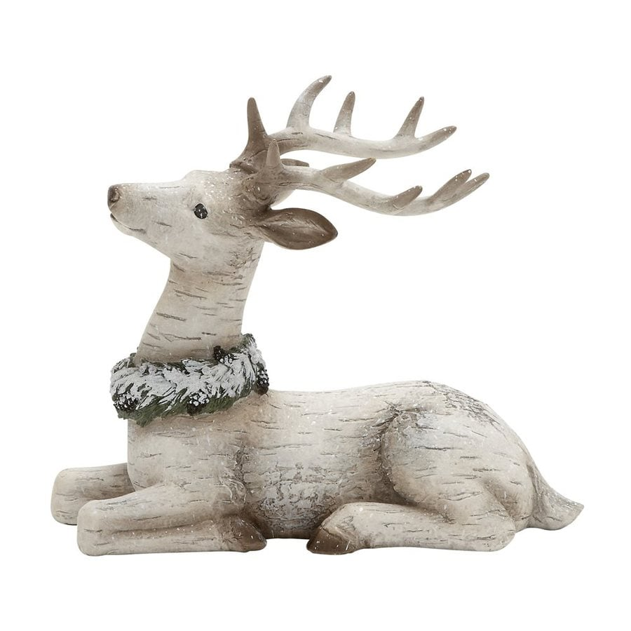 Shop woodland imports resin freestanding reindeer figurine for Christmas deer decorations indoor