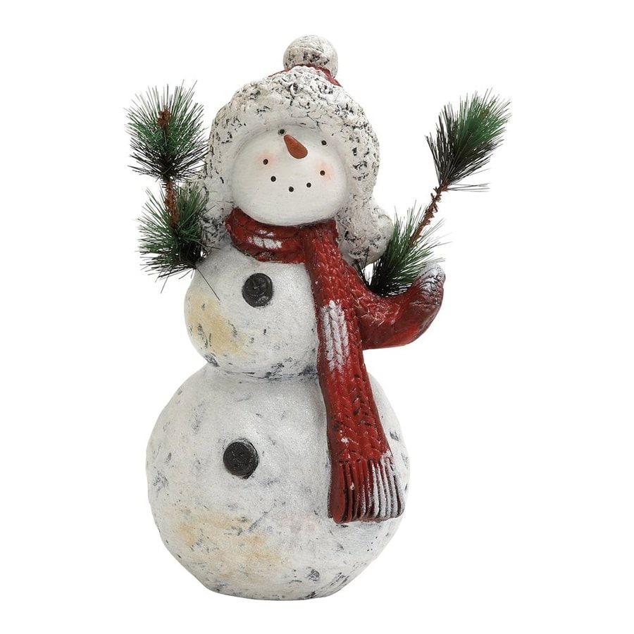 Woodland Imports Ceramic Freestanding Snowman Figurine