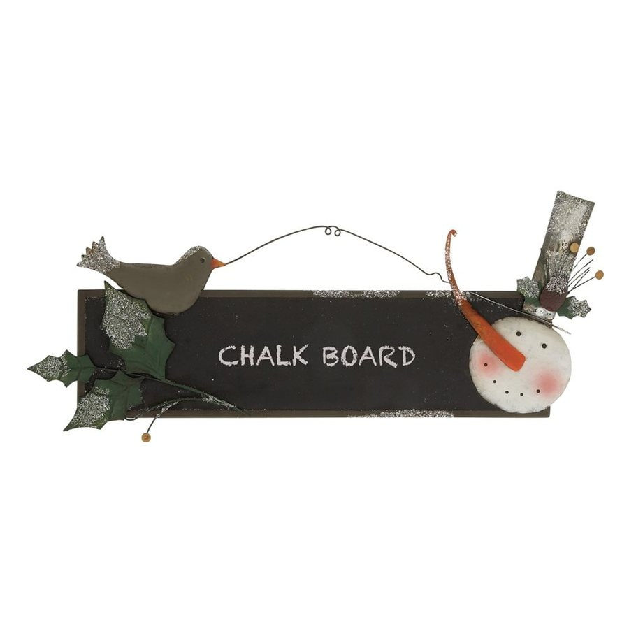 Woodland Imports Metal Wall-Mounted Chalkboard Sign
