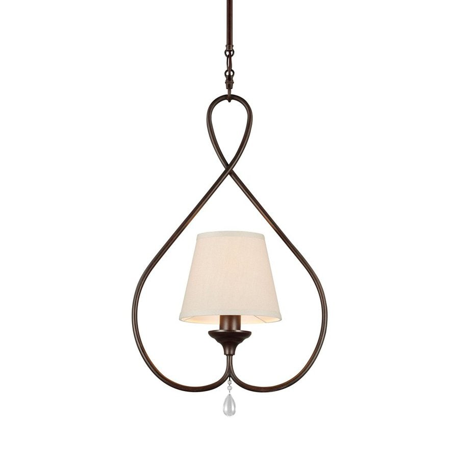 Sea Gull Lighting West Town 8.375-in Burnt Sienna Country Cottage Mini Pendant