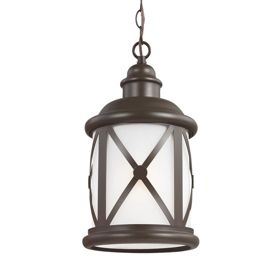 Sea Gull Lighting Lakeview 15.25-in Antique Bronze Outdoor Pendant Light ENERGY STAR