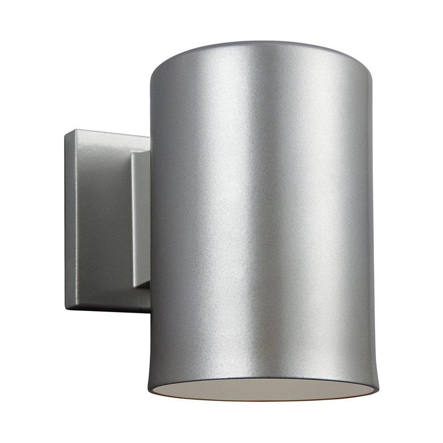 Sea Gull Lighting Outdoor Bullets 7.25-in H Painted Brushed Nickel Dark Sky Outdoor Wall Light ENERGY STAR