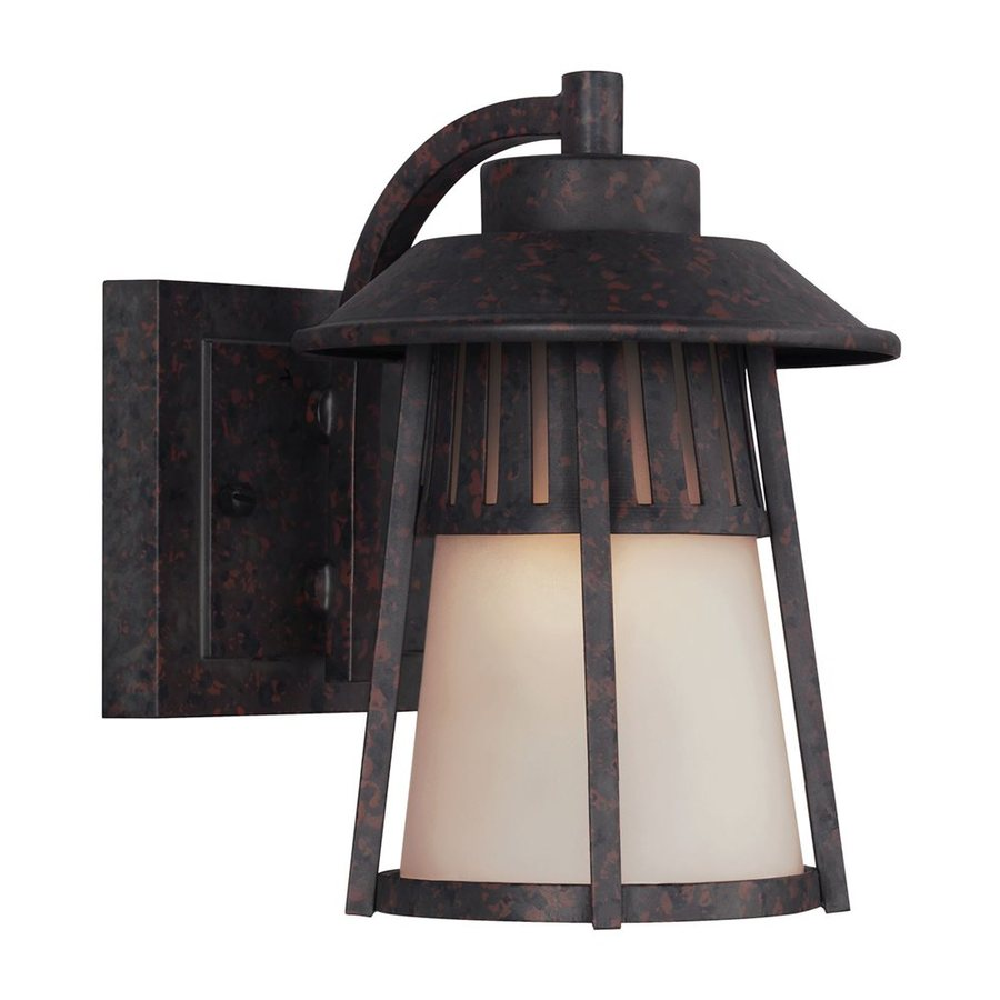 Sea Gull Lighting Hamilton Heights 8.188-in H Oxford Bronze Outdoor Wall Light ENERGY STAR