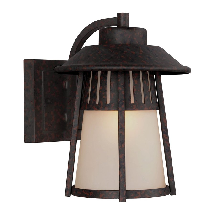 Sea Gull Lighting Hamilton Heights 9.406-in H Oxford Bronze Outdoor Wall Light ENERGY STAR