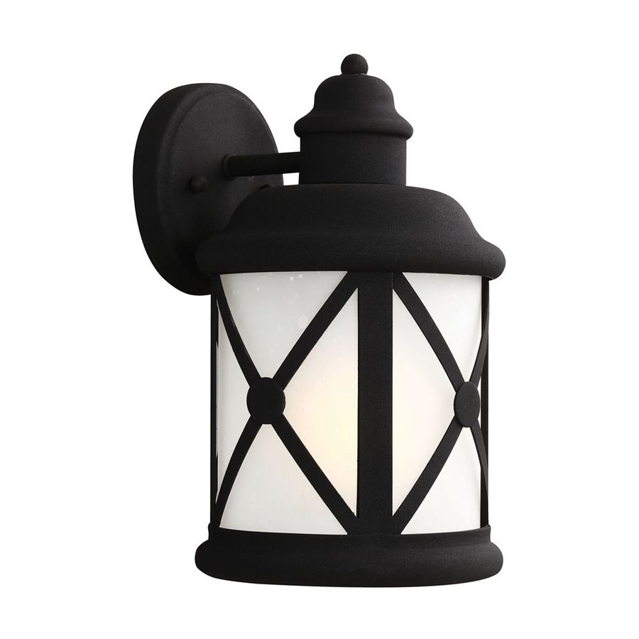 Sea Gull Lighting Lakeview 12-in H Black Outdoor Wall Light ENERGY STAR