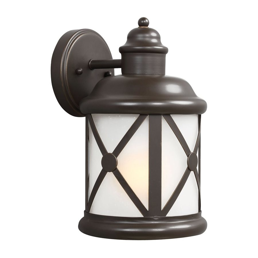 Sea Gull Lighting Lakeview 12-in H Antique Bronze Outdoor Wall Light ENERGY STAR